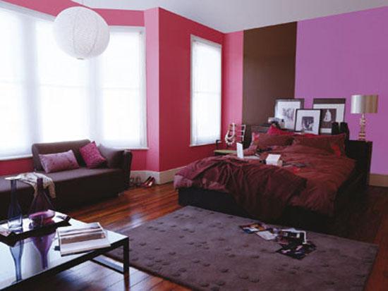 Dormitorio en rosas